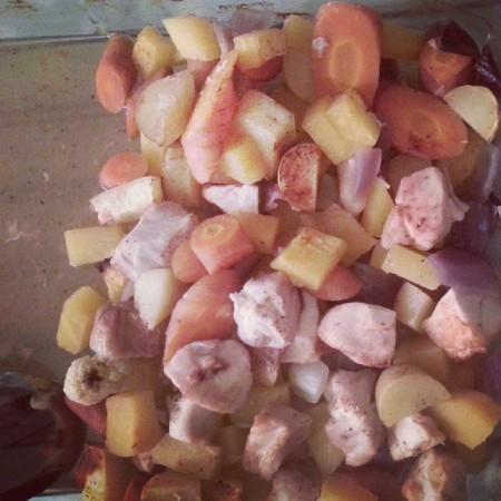 Dagens #middag. Gode #grønnsaker med kylling. #EnkeltOgGreit