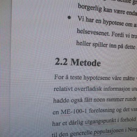 Ikke veldig gøy å skrive oppgave om #Metode og resultater.